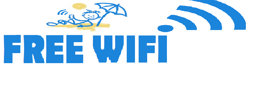 Free wifi area in the camping riviera